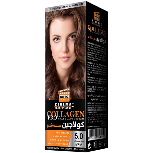 Kafe e Lehtë Nitro Canada Cinema Professional Hair Color System