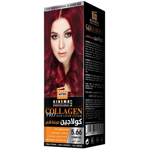 Qershi e Kuqe Nitro Canada Cinema Professional Hair Color System