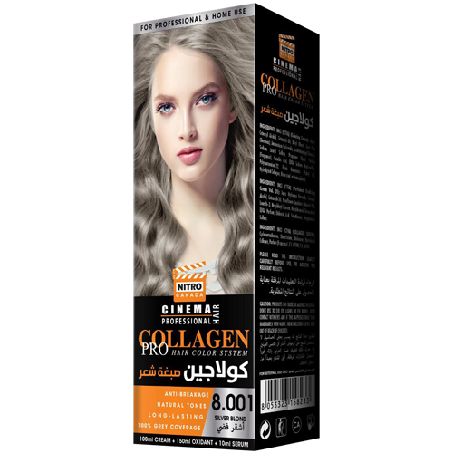 Bjonde Argjendi Nitro Canada Cinema Professional Hair Color System