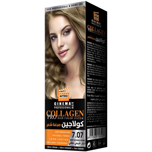 Mat Natyral Bjond  Nitro Canada Cinema Professional Hair Color System