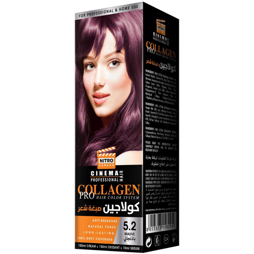 E Purpurt Nitro Canada Cinema Professional Hair Color System