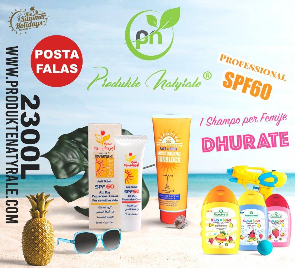 Anti Solar Skin Care + Dhurate 1 Shampo per Femije