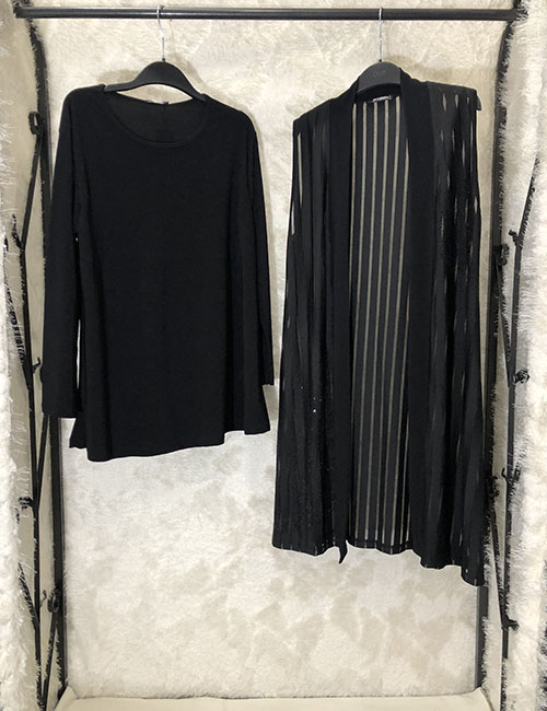 Bluza trecerekshe kasike e zeze me dy pjese